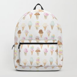 Watercolor Ice Cream Cones Backpack