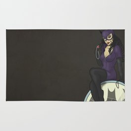 Catwoman in Art Nouveau Rug