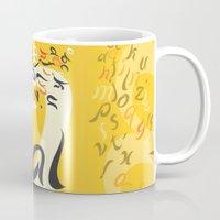 font Mugs featuring Mahal Font by John Hernandez Art