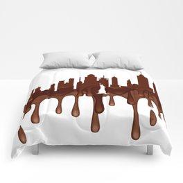 New York, New York Skyline CH Comforters