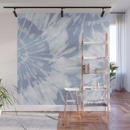 blue grey soft tie dye Wall Mural