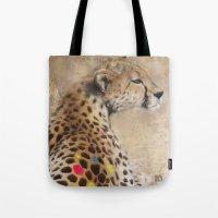 cheetah Tote Bags featuring Cheetah by Sath