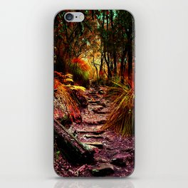 Warm trees iPhone Skin