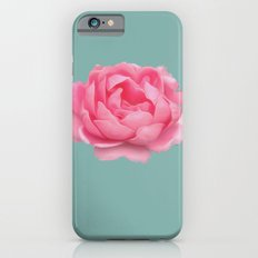 Rose on mint Slim Case iPhone 6s