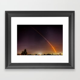 Atlas V Through the Sky Framed Art Print
