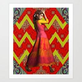 Lady Boho Art Print