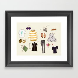 My (...not so new) spring wardrobe! Framed Art Print