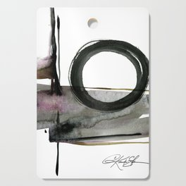 Enso Abstraction No. 112 by Kathy morton Stanion Cutting Board