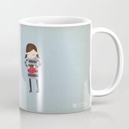 Girl Mending Broken Heart Coffee Mug