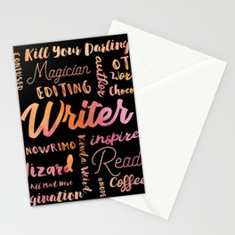 Writer Words Stationery Cards