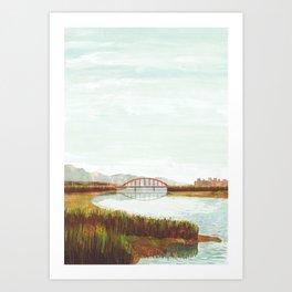 Riverbed Art Print