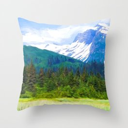 Lake Clark Park Throw Pillow