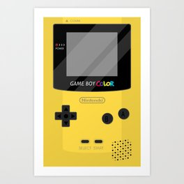 Gameboy Color - Yellow Art Print