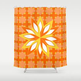 Pattern and orange blossom  Shower Curtain