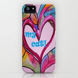 I Heart my CAT! iPhone Case