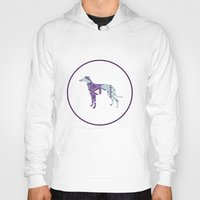 greyhound Hoodies featuring Greyhound Geometri by Simon Alenius