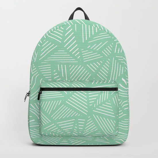 Geo Lines Mint Backpack