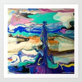 Contrary fluidity Art Print