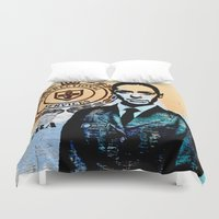 tits Duvet Covers featuring Vera Vinegar-tits Bennett by SwanniePhotoArt