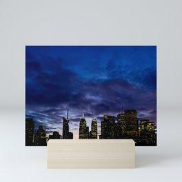 Skyline City Sunset Mini Art Print