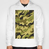 camouflage Hoodies featuring CAMOUFLAGE by I Love Decor