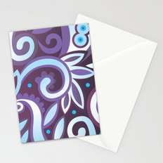 Summer leaves, purple Stationery Cards