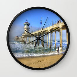 Beautiful Huntington Beach, California Wall Clock