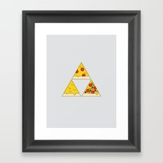 The Pizza Triforce Framed Art Print