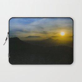 Sunset Scene Santiago de Chile Aerial View Laptop Sleeve