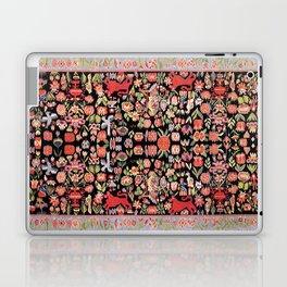 Täcke Antique Swedish Skåne Wedding Blanket Print Laptop & iPad Skin