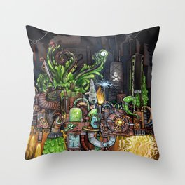 Contraption of Waste Throw Pillow