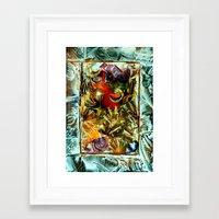 metallic Framed Art Prints featuring Metallic by Vargamari