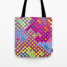 Abstract Psychedelic Pop Art Truchet Tile Pattern Tote Bag