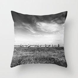 Fields of the Elysium Locomotive Throw Pillow