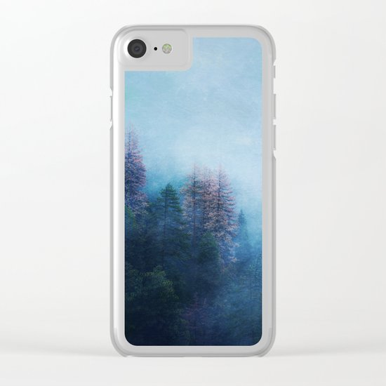Dreamy Winter Forest Clear iPhone Case