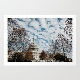 Capitol Hill | Colourful Travel Photography | Washington D.C., America (USA) Art Print