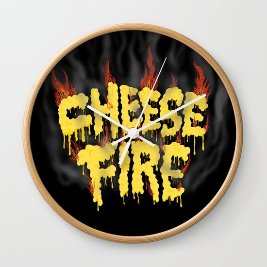 CHEESE FIRE!!! Wall Clock