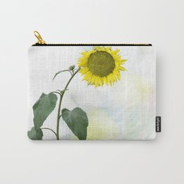 Sunflower blooming, watercolor painting Carry-All Pouch