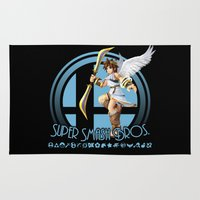 super smash bros Area & Throw Rugs featuring Pit - Super Smash Bros. by Donkey Inferno