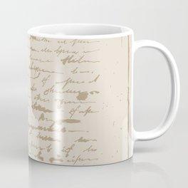 Vintage Square.  Unreadable letter. Coffee Mug