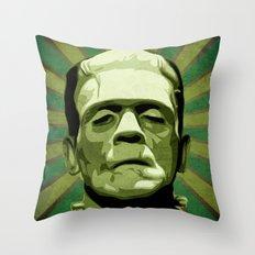 Frankenstein - Pop Art Throw Pillow