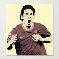 messi Canvas Prints featuring Messi by Renan Lacerda