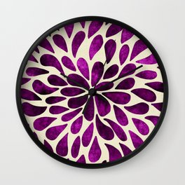 Petal Burst #21 Wall Clock