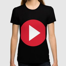 Red Video Play Button T-shirt