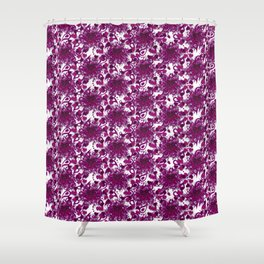 Hearts of Exploding Love Shower Curtain