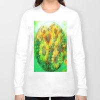 sunflower Long Sleeve T-shirts featuring Sunflower by Joe Ganech