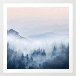 Pastel landscape 03 Art Print