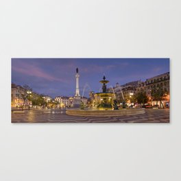 Rossio square at dusk Canvas Print