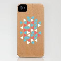 Triangle/wood Slim Case iPhone (4, 4s)