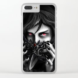 Masked Demon Clear iPhone Case